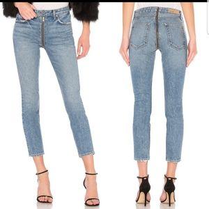 GRLFRND Marissa Ankle Exposed Zip Skinny Jeans